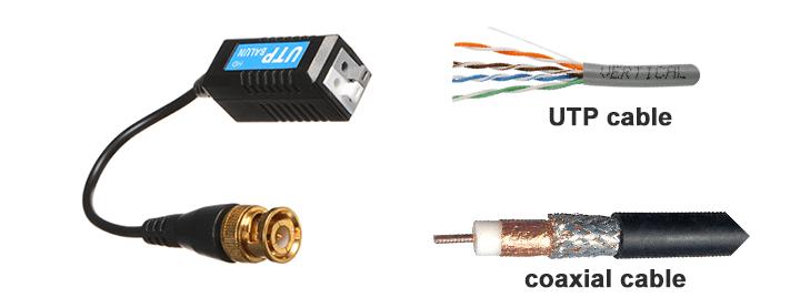 Video Balun مبدل کابل کواکسیکال به کابل شبکه UTP